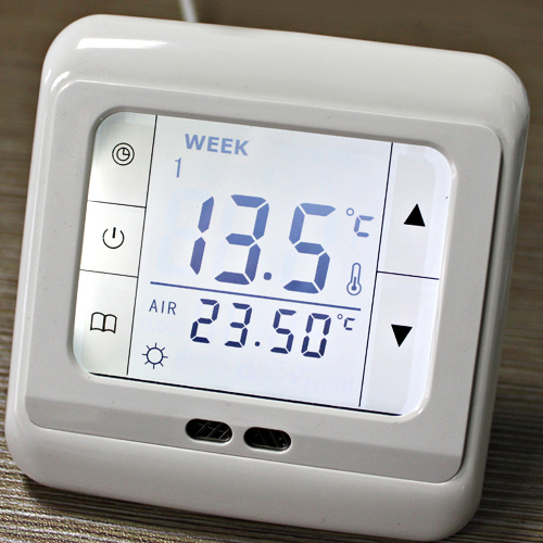 neu lcd digital raumthermostat digitaler thermostat. Black Bedroom Furniture Sets. Home Design Ideas
