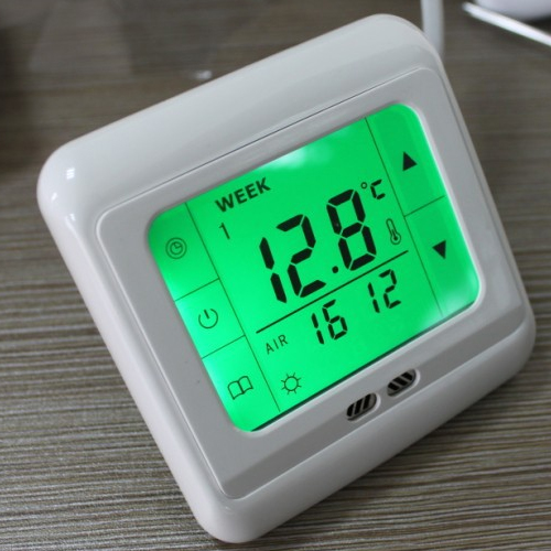 lcd digital raumthermostat bodenf hler thermostat fu bodenheizung touchscreen ebay. Black Bedroom Furniture Sets. Home Design Ideas