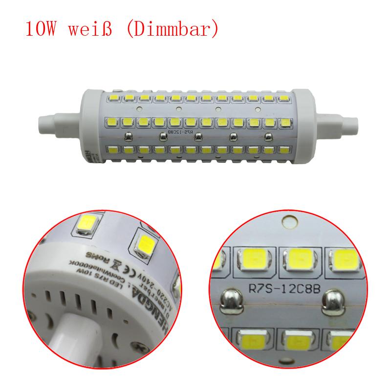 r7s led 10 watt 360 leuchtmittel strahler fluter dimmbar 118mm lampe wei ebay. Black Bedroom Furniture Sets. Home Design Ideas