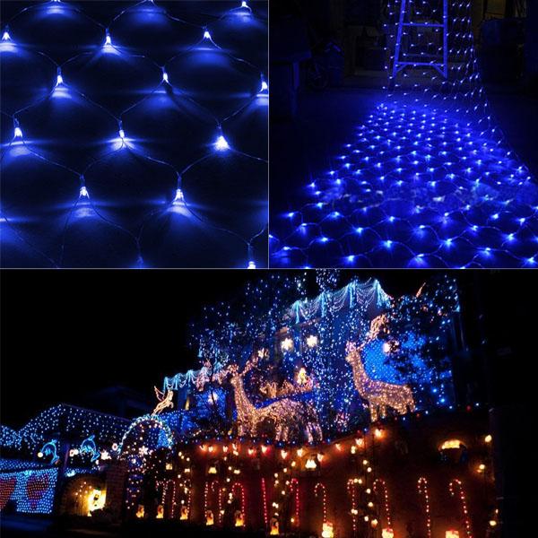 3x3m led lichternetz 300 leds vorhang beleuchtung innen au en deko weihnachten ebay. Black Bedroom Furniture Sets. Home Design Ideas