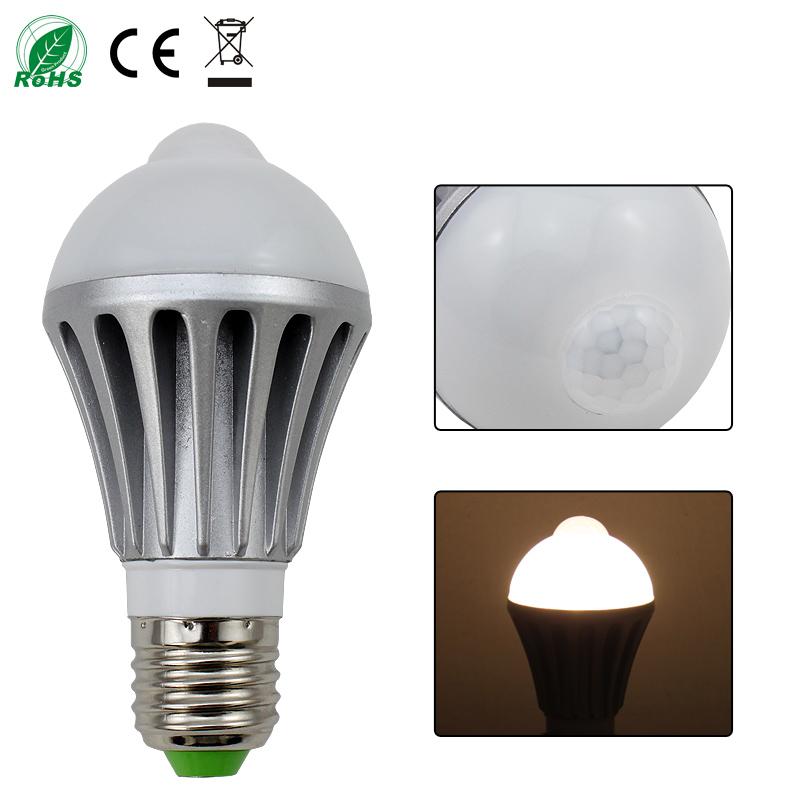 7w e27 led birne lampe mit bewegungsmelder pir d mmerungssensor treppen bulb neu ebay. Black Bedroom Furniture Sets. Home Design Ideas