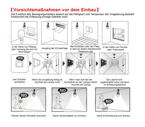 7w e27 led birne lampe mit bewegungsmelder pir sensor warmwei 700lm leuchte ebay. Black Bedroom Furniture Sets. Home Design Ideas