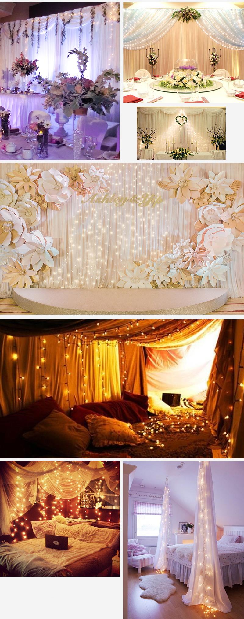 led lichterkette lichternetz lichtervorhang strip au en weihnachten beleuchtung ebay. Black Bedroom Furniture Sets. Home Design Ideas