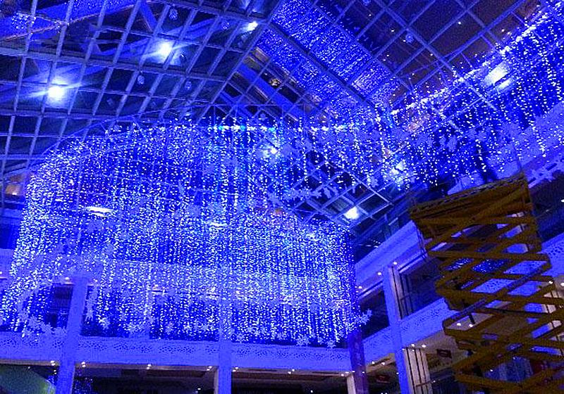 600 leds led eiszapfen weihnachten lichterkette weihnachtsbeleuchtung au en blau ebay. Black Bedroom Furniture Sets. Home Design Ideas