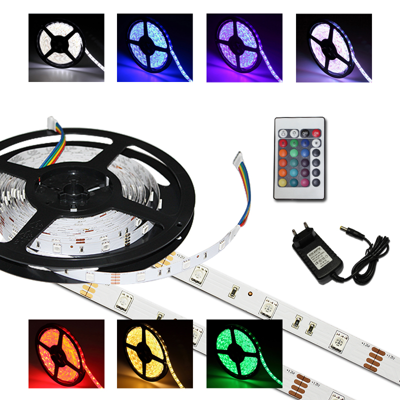 2m rgb led smd 5050 lichtleiste 30 leds streifen strip leiste controller trafo ebay. Black Bedroom Furniture Sets. Home Design Ideas