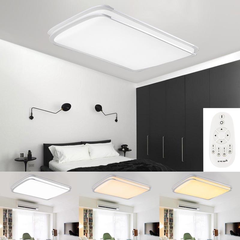 led deckenlampe deckenleuchte wohnzimmer k chen wandlampe dimmbar 48w 64w 96w ebay. Black Bedroom Furniture Sets. Home Design Ideas