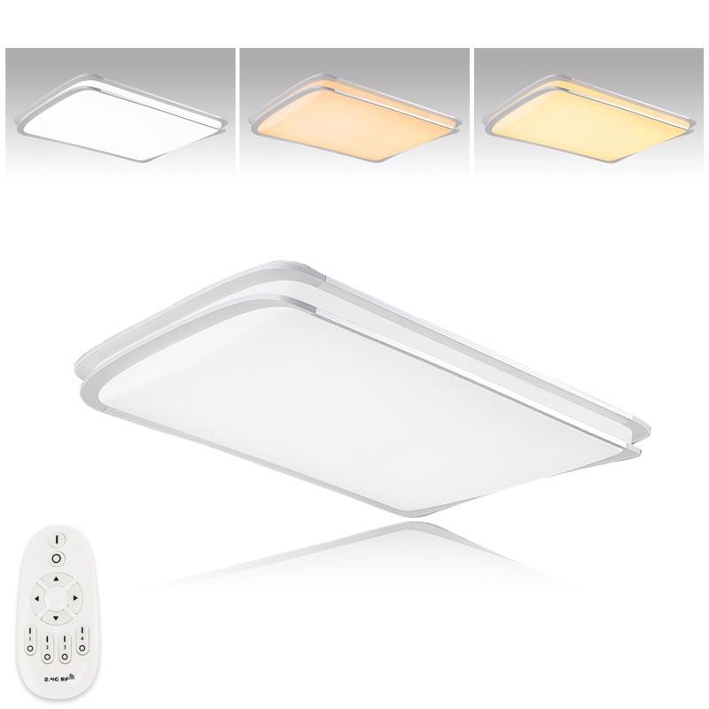 96w led deckenleuchte dimmbar deckenlampe flurlampe panel. Black Bedroom Furniture Sets. Home Design Ideas