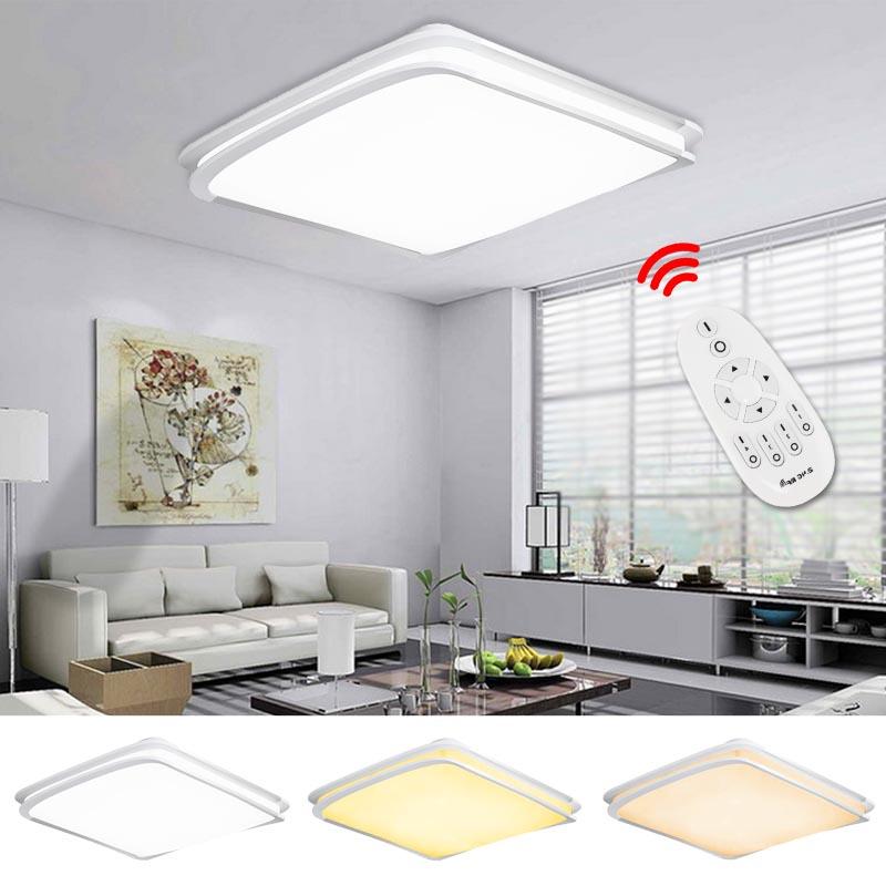 64w led deckenleuchte dimmbar deckenbeleuchtung energiespar wohnzimmer leuchte. Black Bedroom Furniture Sets. Home Design Ideas