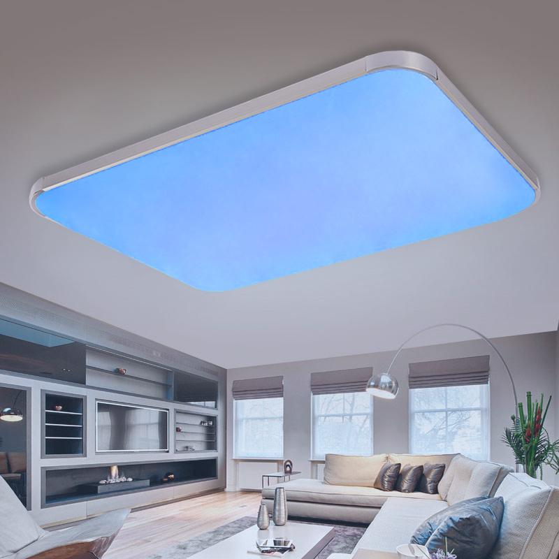 rgb farbwechsel led deckenlampe wandlampe dimmbar mit fernbedienung 25w 90w ebay. Black Bedroom Furniture Sets. Home Design Ideas