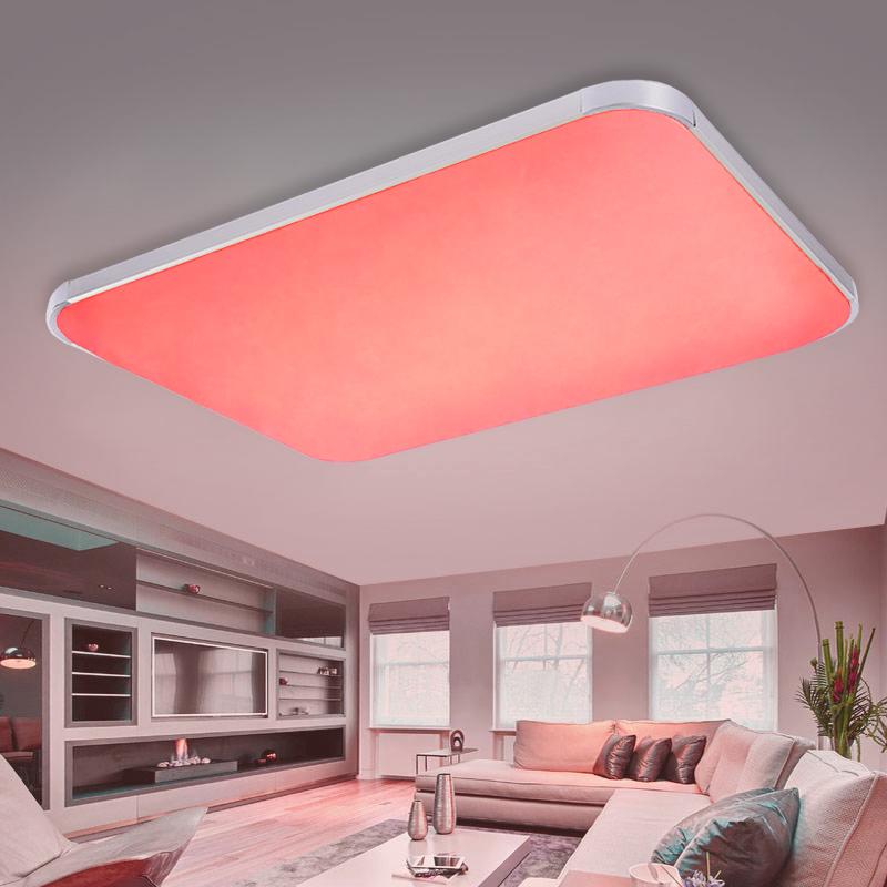 rgb farbwechsel led deckenlampe wandlampe dimmbar mit. Black Bedroom Furniture Sets. Home Design Ideas