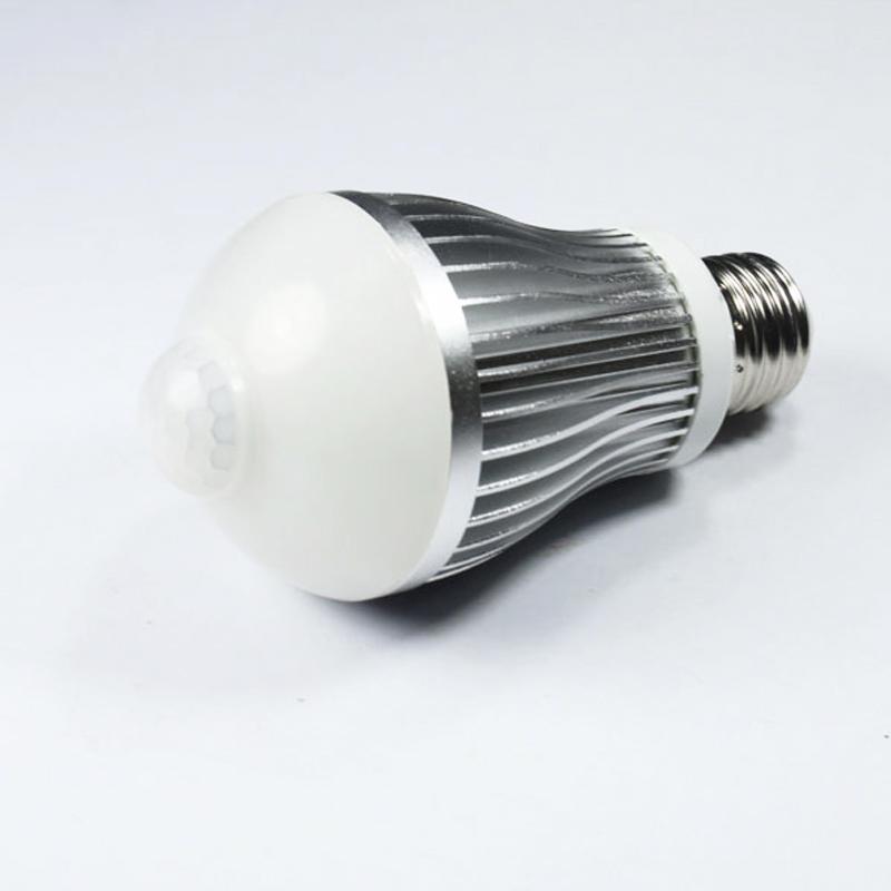 7w e27 led gl hbirne birne mit bewegungsmelder pir sensor. Black Bedroom Furniture Sets. Home Design Ideas