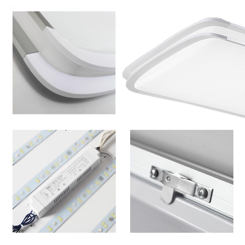 rgb led deckenlampe k chenlampen deckenleuchte voll dimmbar 36w 54w 90w ip44 ebay. Black Bedroom Furniture Sets. Home Design Ideas