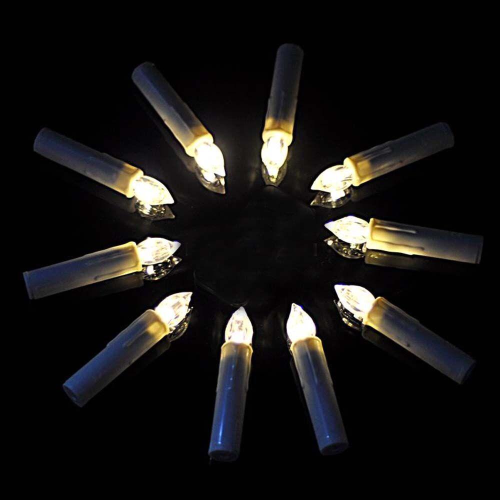 10x 80x kabellose weinachten led mini christbaumkerzen for Kabellose christbaumkerzen mini