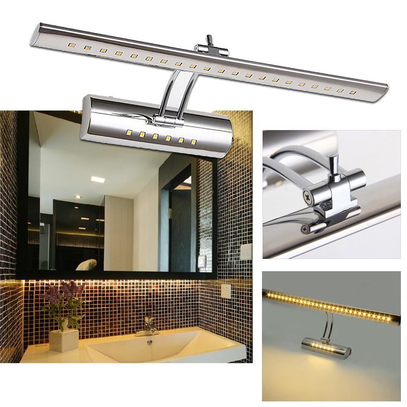 led spiegelleuchte mit schalter 7w spiegellicht wandlampe badleuchte warmwei ebay. Black Bedroom Furniture Sets. Home Design Ideas