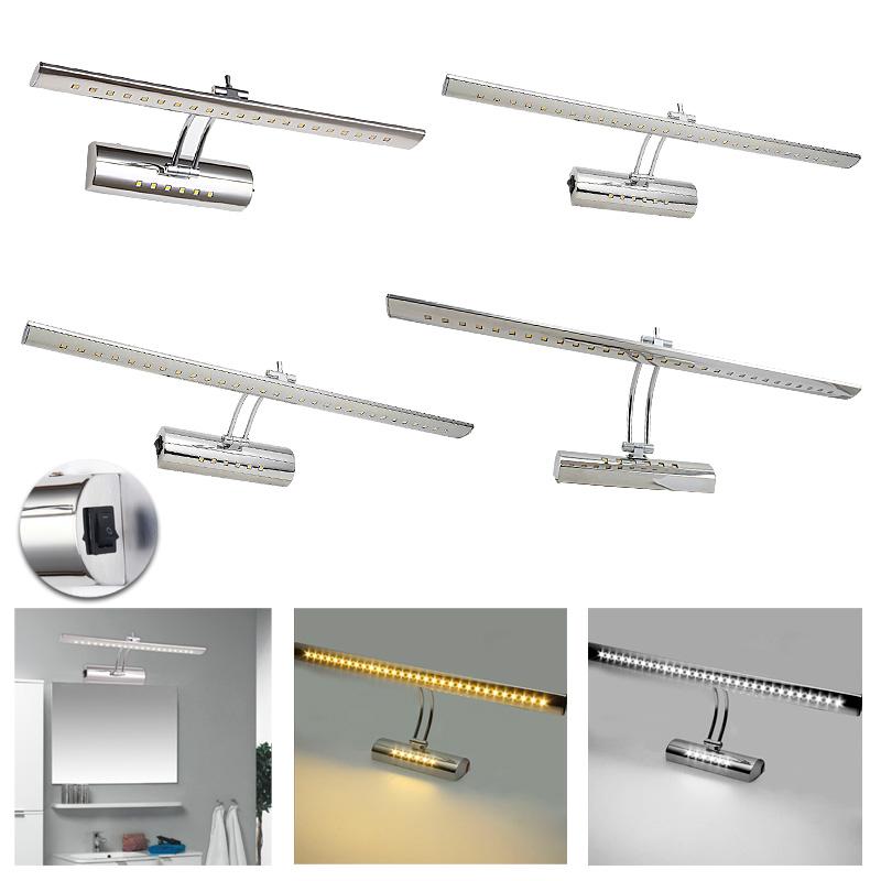 7 9 12 19w led spiegelleuchte spiegellampe badleuchte bilderleuchte mit schalter. Black Bedroom Furniture Sets. Home Design Ideas
