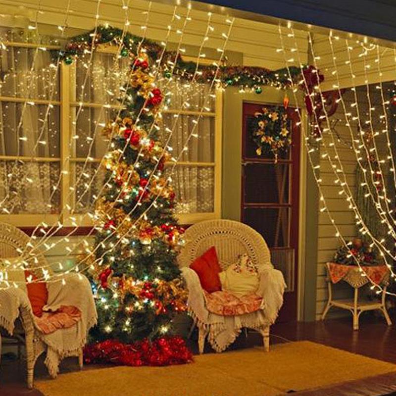 3x3m led lichtervorhang lichternetz weihnachten innen. Black Bedroom Furniture Sets. Home Design Ideas