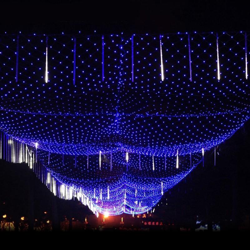 Led weihnachten lichternetz lichtervorhang lichterkette for Lichtervorhang weihnachten