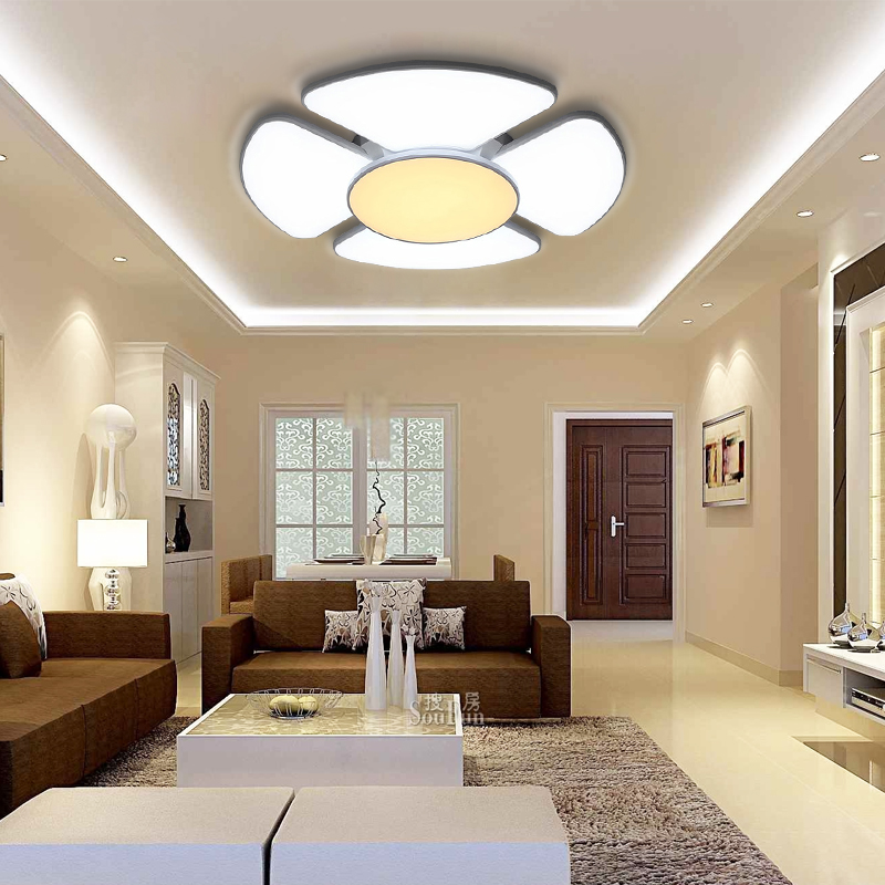 60w 132w modern led deckenlampe wandlampe farbwechsel wohnzimmer gesch ft k che ebay. Black Bedroom Furniture Sets. Home Design Ideas