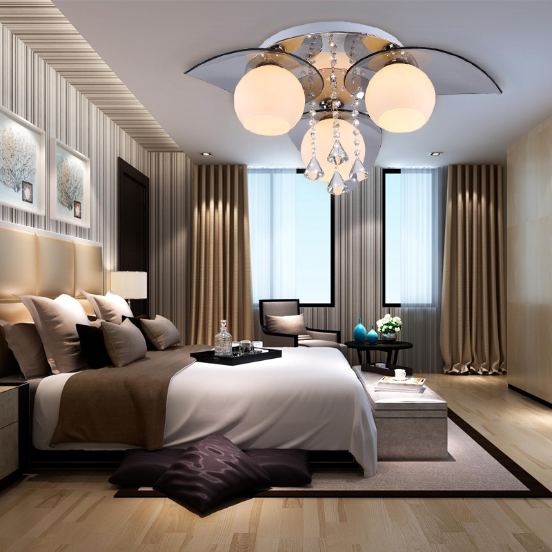 3 flammig led kristall deckenleuchte design b ro wohnzimmer deckenlampe l ster ebay. Black Bedroom Furniture Sets. Home Design Ideas