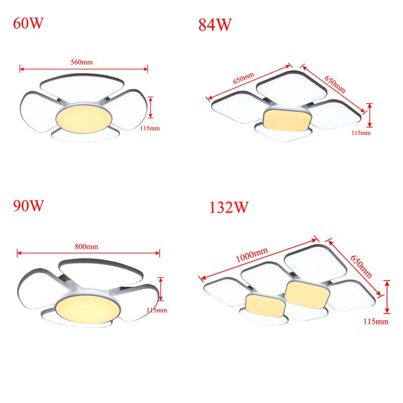 60 132w led deckenleuchte design wohnzimmer deckenlampe for Badlampe design