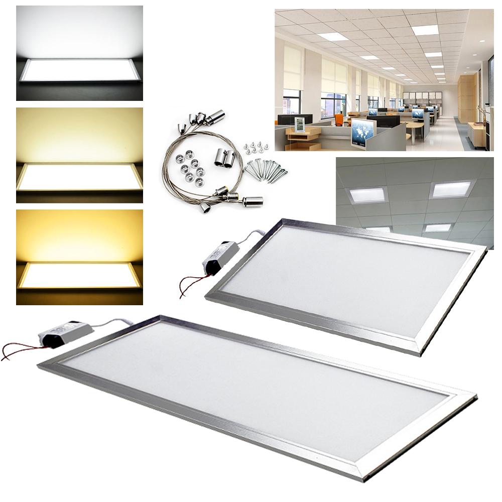 12 24w led panel lampe deckenleuchte b ro pendelleuchte. Black Bedroom Furniture Sets. Home Design Ideas