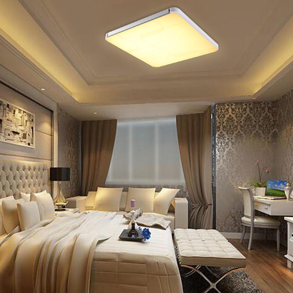 64w led panel deckenleuchte warmwei badlampe wohnzimmer esszimmer deckenlampe ebay. Black Bedroom Furniture Sets. Home Design Ideas