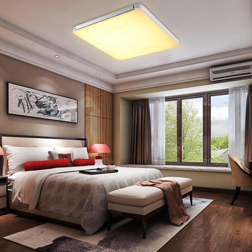 64w led panel deckenleuchte warmwei badlampe wohnzimmer esszimmer deckenlampe. Black Bedroom Furniture Sets. Home Design Ideas