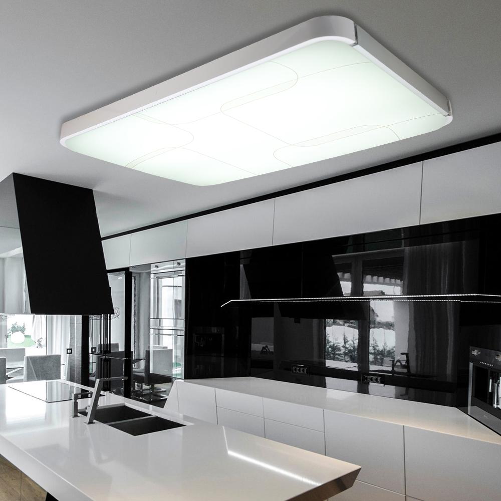 48 64 96w led deckenlampe deckenleuchte beleuchtung dimmbar wohnzimmer k che ebay. Black Bedroom Furniture Sets. Home Design Ideas