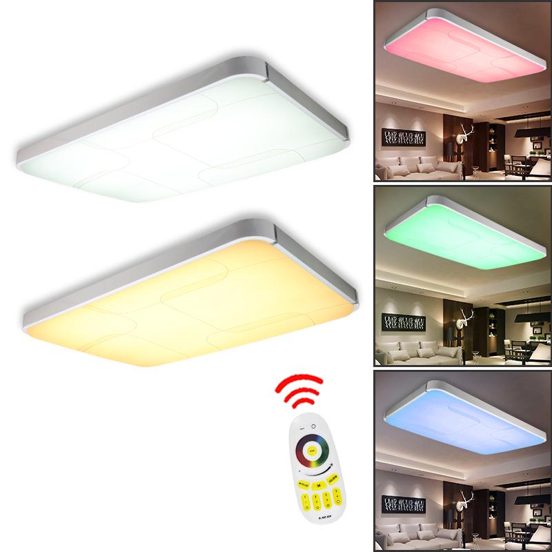 rgb farbwechsel 36w led deckenleuchte kontroller lampe deckenlampe deko ip44 ebay. Black Bedroom Furniture Sets. Home Design Ideas