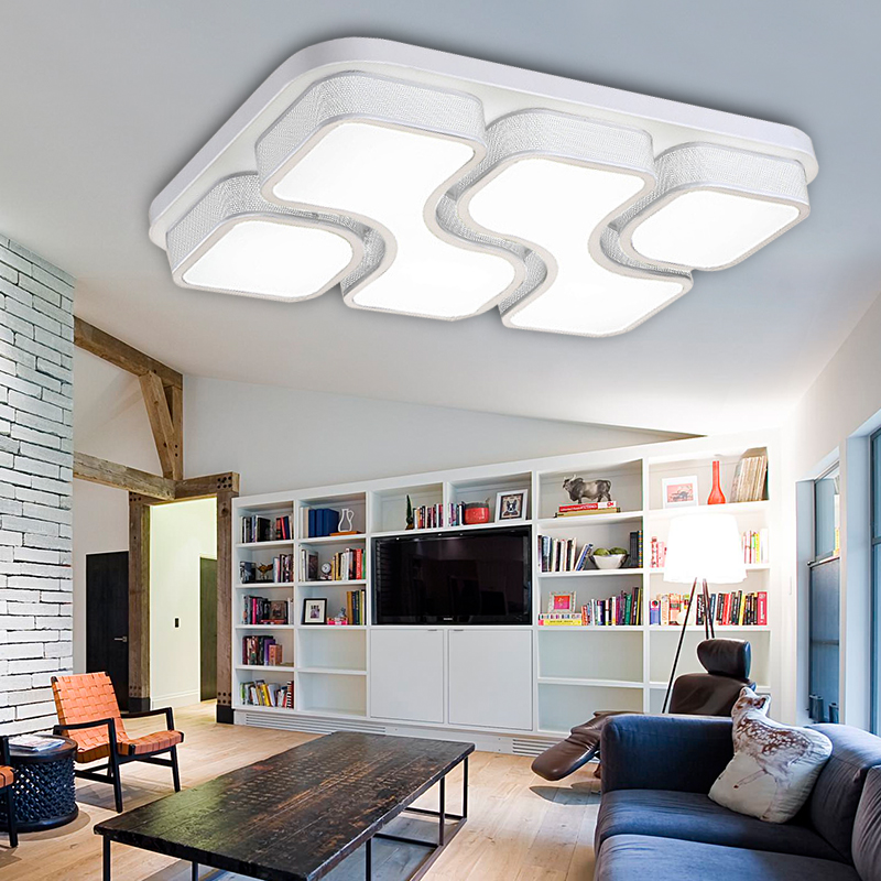 64w dimmbar led deckenleuchte deckenlampe wohnzimmer k chen leuchte badleuchte ebay. Black Bedroom Furniture Sets. Home Design Ideas