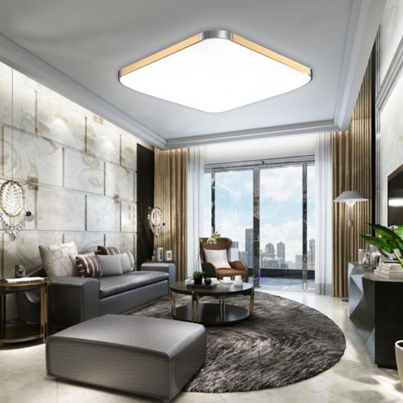 12 96w modern led deckenleuchte wohnzimmer k che deckenlampe badlampe dimmbar ebay. Black Bedroom Furniture Sets. Home Design Ideas