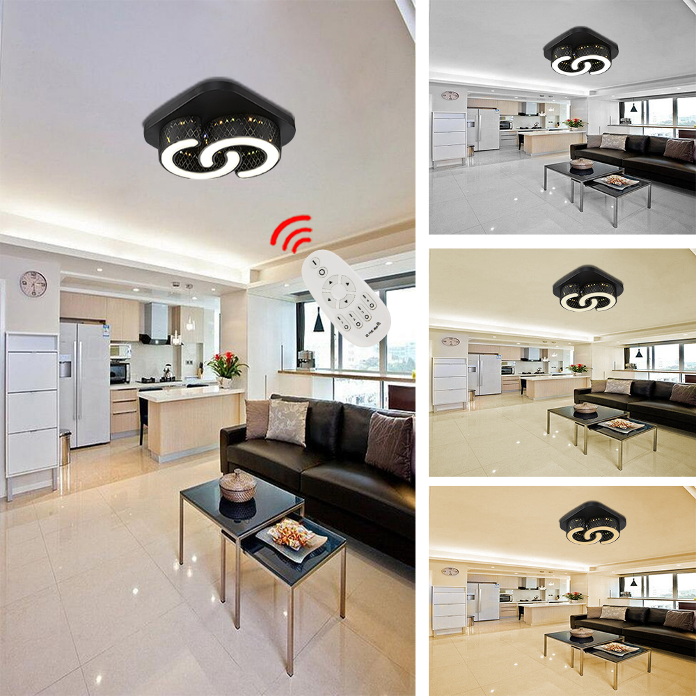 led 24w deckenleuchte wohnzimmer deckenlampe dimmbar wandlampe k chen flur b ro ebay. Black Bedroom Furniture Sets. Home Design Ideas