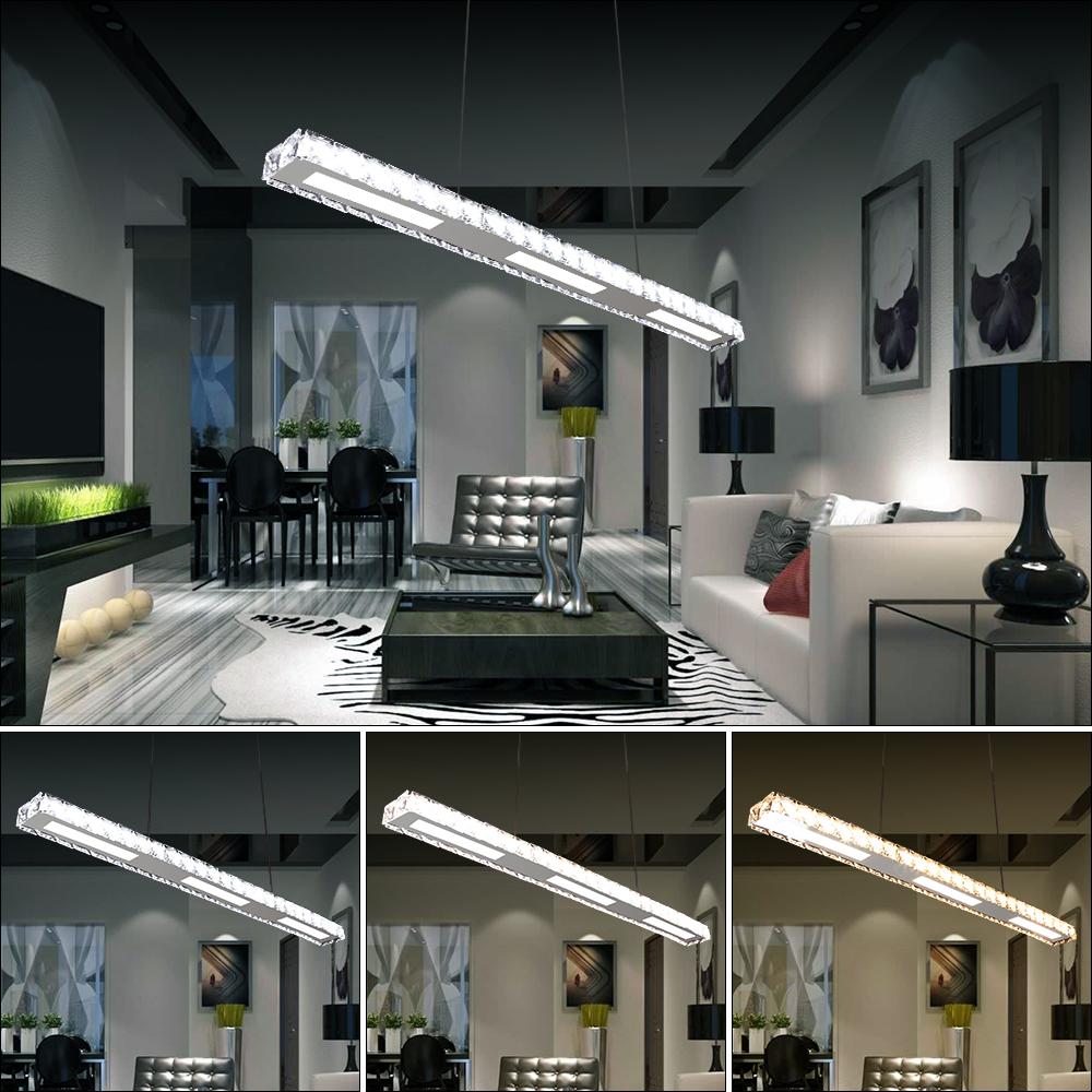 2x 24w led kristall h ngeleuchte b ro kronleuchter. Black Bedroom Furniture Sets. Home Design Ideas