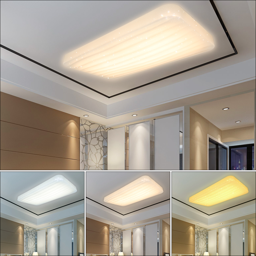 30w 60w 3in1 led stern deckenleuchte korridor kombination wandlampe deckenlampe ebay. Black Bedroom Furniture Sets. Home Design Ideas