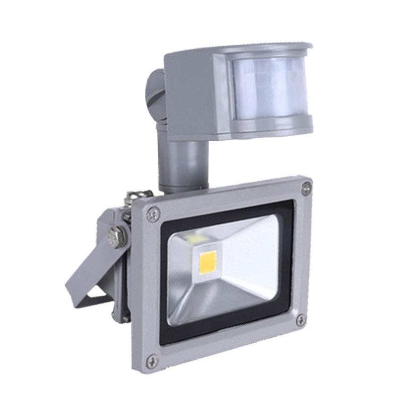 10w led flutlicht fluter strahler mit bewegungsmelder ip65 sensor smd au en. Black Bedroom Furniture Sets. Home Design Ideas