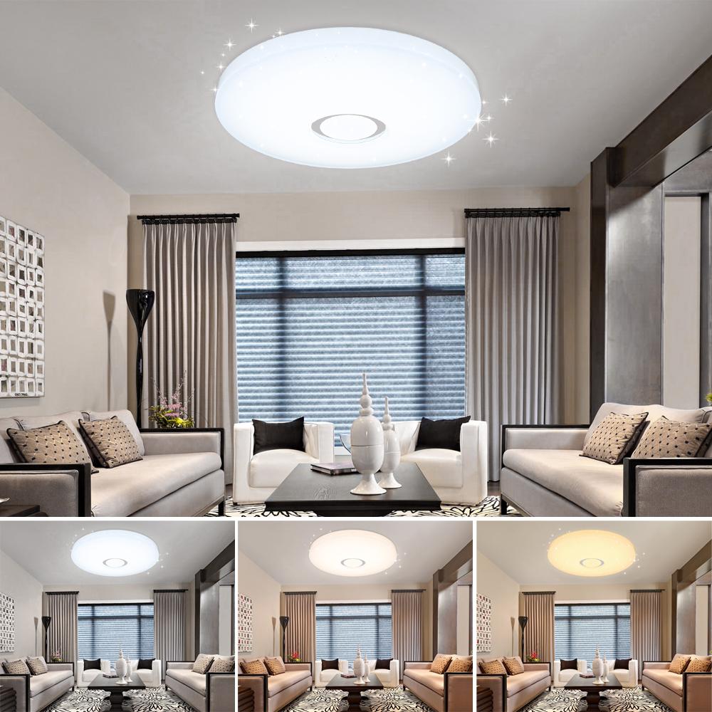 led deckenleuchte kristall deckenlampe sternen panel. Black Bedroom Furniture Sets. Home Design Ideas