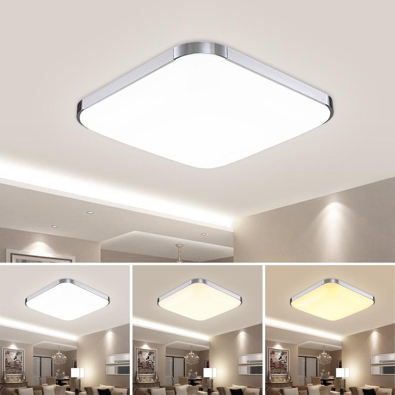 36w led deckenleuchte deckenlampe panel energiespar schlafzimmer flur 3in1 k che. Black Bedroom Furniture Sets. Home Design Ideas