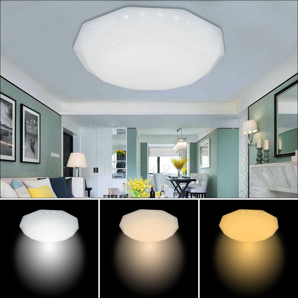 22w led 3in1 deckenleuchte wohnzimmer farbwechsel wandlampe badlampe flur leucht ebay. Black Bedroom Furniture Sets. Home Design Ideas