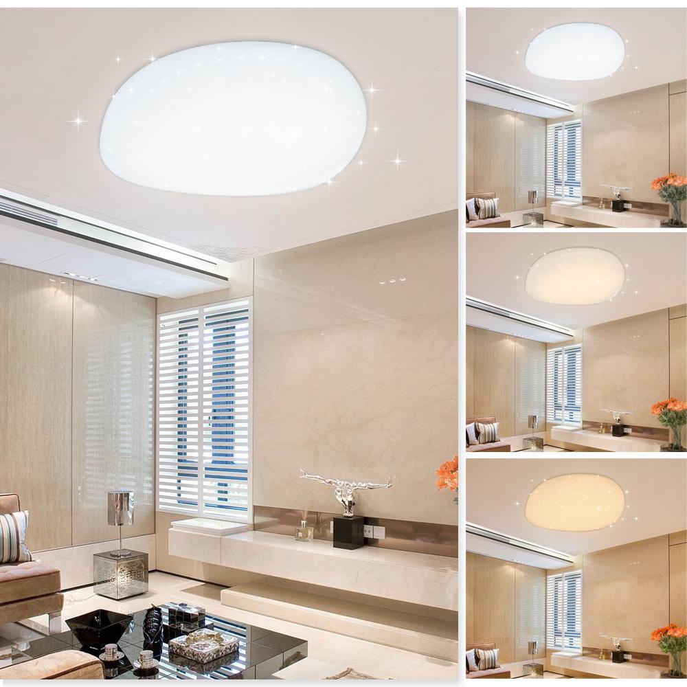60w led decken leuchte deckenlampe wohnzimmer deckenleuchte k che flur 3 in1 ebay. Black Bedroom Furniture Sets. Home Design Ideas