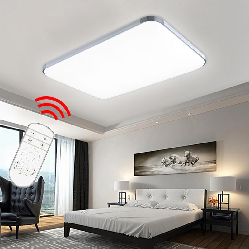led deckenleuchte 48w wohnzimmer deckenlampe k chen flur beleuchtung dimmbar nue ebay. Black Bedroom Furniture Sets. Home Design Ideas