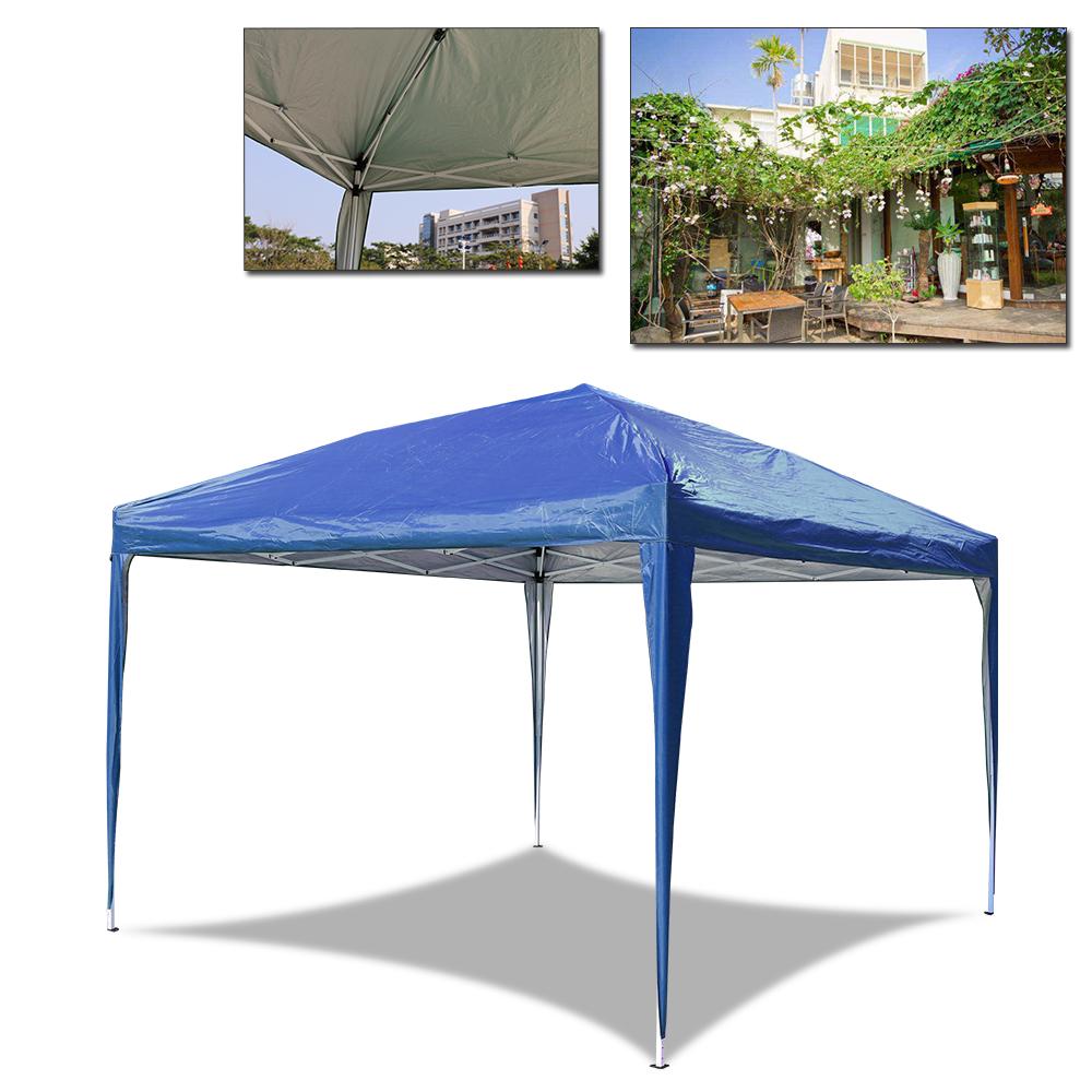 falt pavillon party zelt garten pavillon blau 3x3m wasserdicht bierzelt faltbar ebay. Black Bedroom Furniture Sets. Home Design Ideas