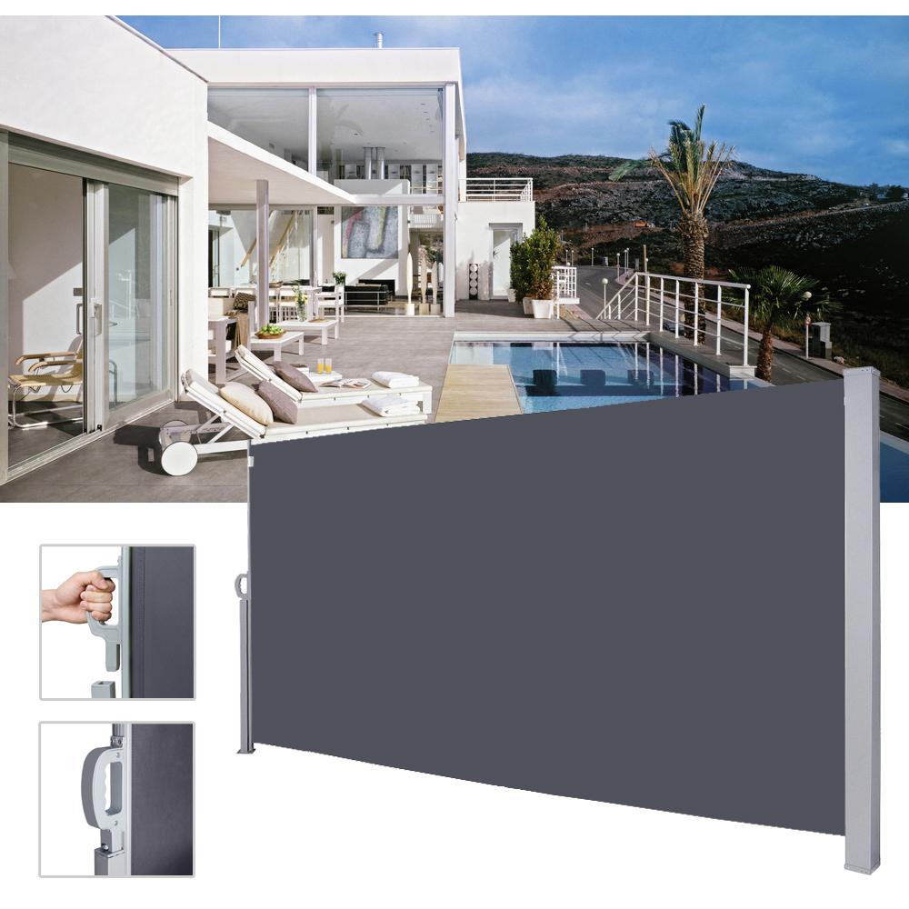 Seitenmarkise Sichtschutz Sonnenschutz Markise Terrasse Windschutz