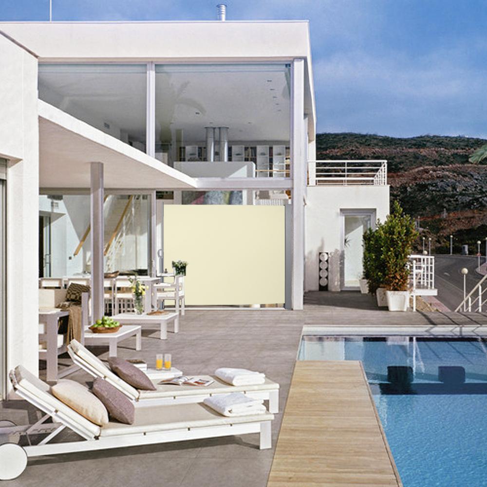 seitenmarkise sonnenschutz sichtschutz windschutz alu terrasse uv markise ebay. Black Bedroom Furniture Sets. Home Design Ideas