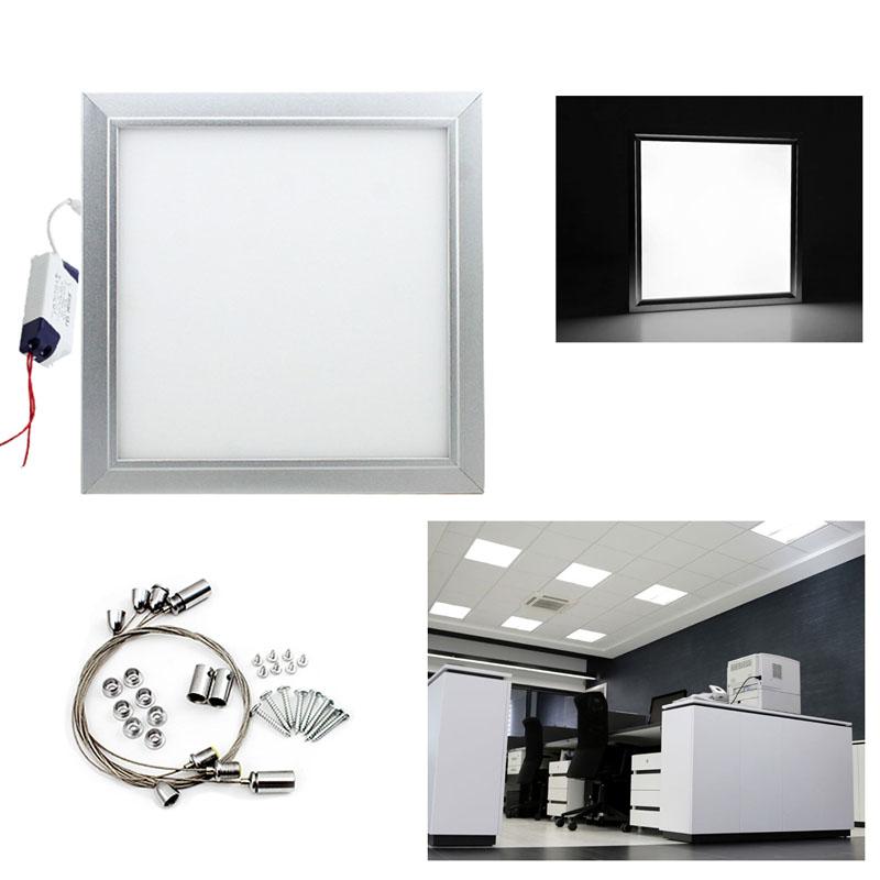 12w deckenleuchte einbauleuchte led panel eckig l den wei ultraslim k che flur ebay. Black Bedroom Furniture Sets. Home Design Ideas