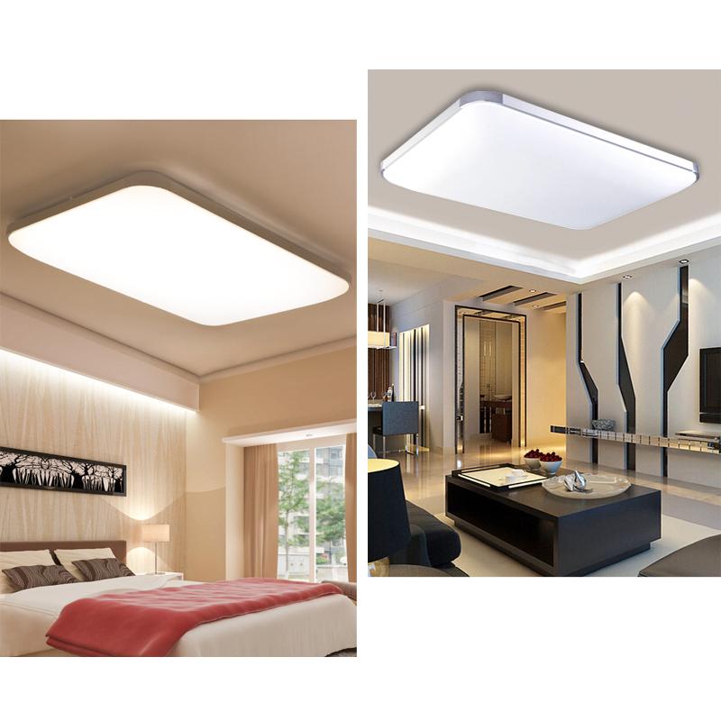 led deckenleuchte badleuchte k che deckenlampe dimmbar wohnzimmer ip44 12w 96w ebay. Black Bedroom Furniture Sets. Home Design Ideas