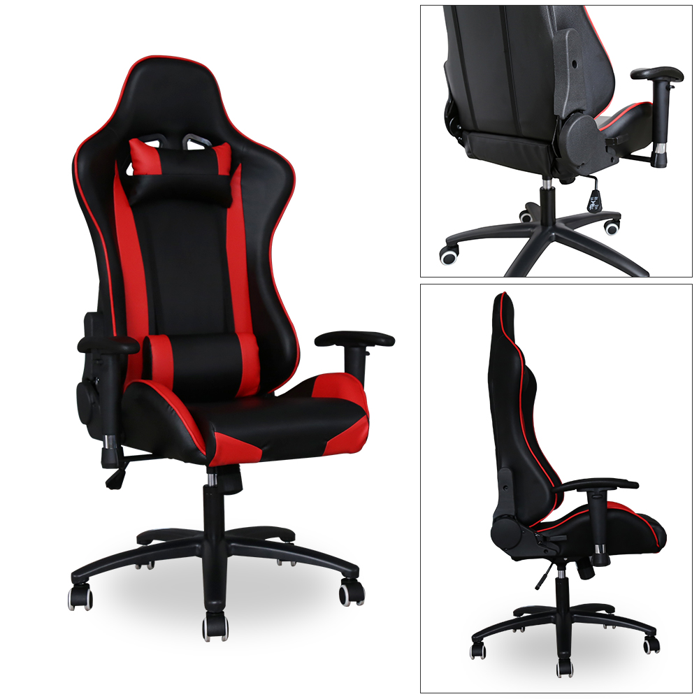 b rostuhl racing chefsessel computerstuhl b ro drehstuhl belastbarkeit 200 kg ebay. Black Bedroom Furniture Sets. Home Design Ideas