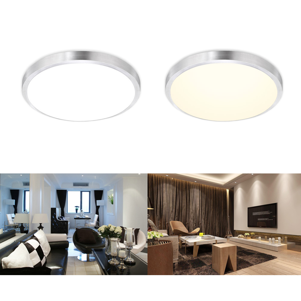 12w 15w led deckenleuchte lampe deckenlampe wandlampe k che 30cm energiespar ebay. Black Bedroom Furniture Sets. Home Design Ideas