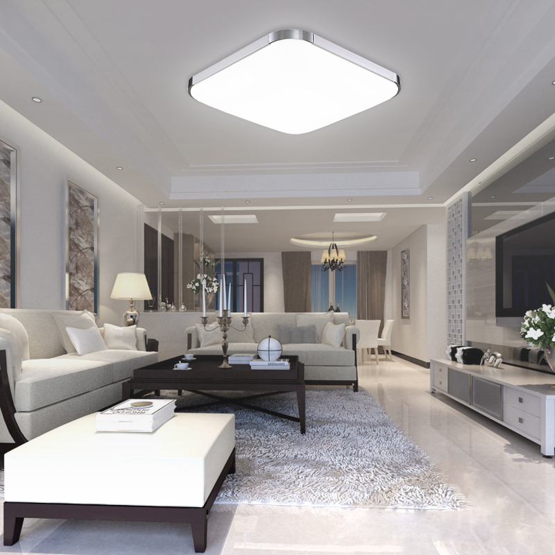 led deckenleuchte 12 15 18 36 48w deckenlampe wohnzimmer. Black Bedroom Furniture Sets. Home Design Ideas