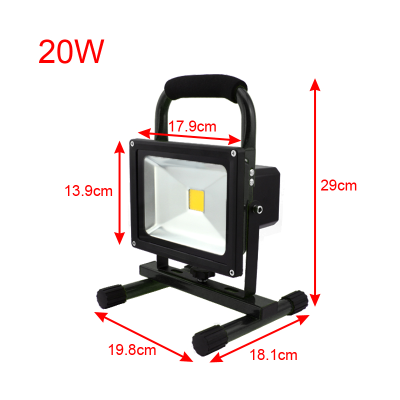 20w projecteur led portable adaptateur rechargeable chargeur voiture camping ebay. Black Bedroom Furniture Sets. Home Design Ideas