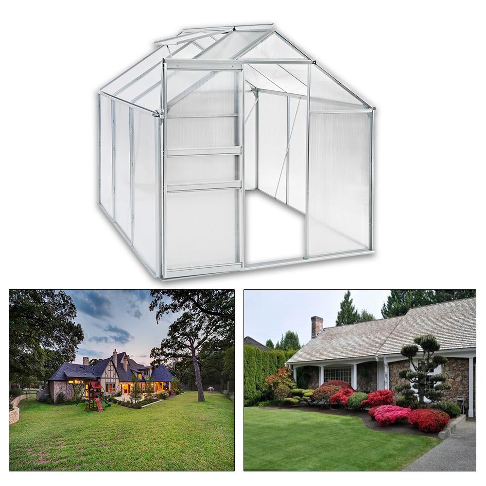 alu gew chshaus gartenhaus garten pflanzenhaus treibhaus tomatenhaus fenster ebay. Black Bedroom Furniture Sets. Home Design Ideas